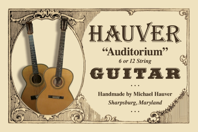 Hauver Guitar Auditorium handmade in Sharpsburg MD