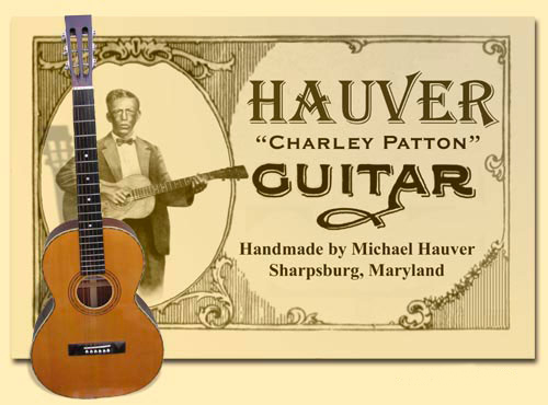 Hauver Guitar Charlie Patton handmade in Sharpsburg MD