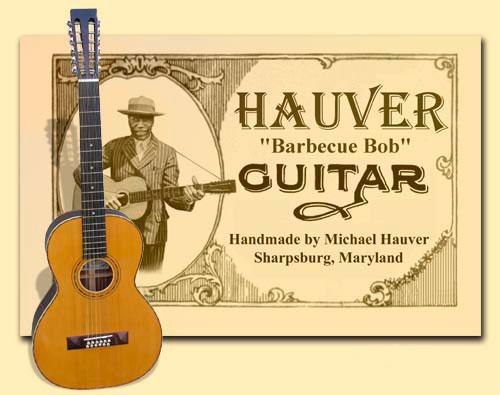 Hauver Guitar Barbecue Bob handmade in Sharpsburg MD