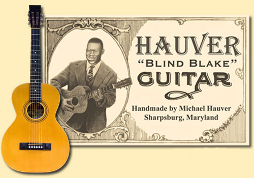 Hauver Guitar Blind Blake handmade in Sharpsburg MD