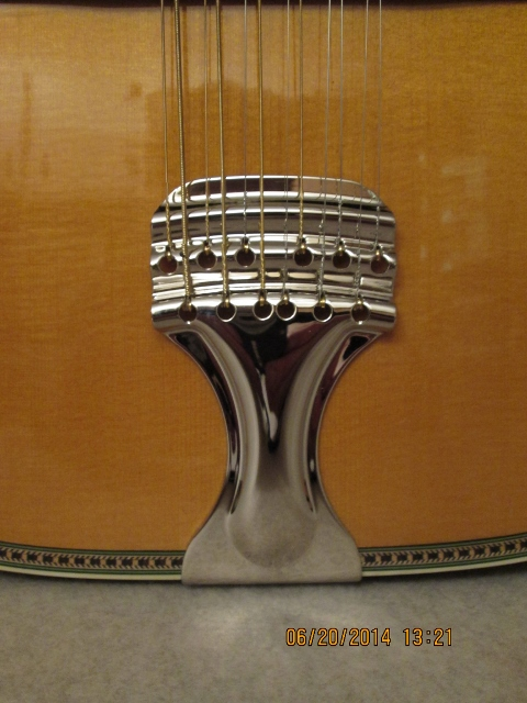 Hauver Guitar Leadbelly custom bridge