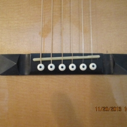 Hauver Guitar Charlie Patton custom bridge