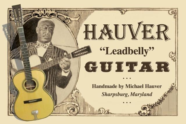 Hauver Guitar Leadbelly handmade in Sharpsburg MD