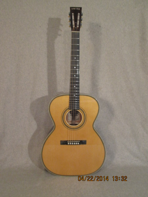 Hauver Guitar 12 String Auditorium custom Binding and Purfling