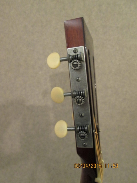 Hauver Guitar Charlie Patton custom tuning pegs