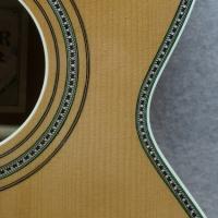 Hauver Guitar Leadbelly custom purfling and rosette