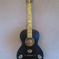 Hauver Concert Guitar Gambler custom vintage