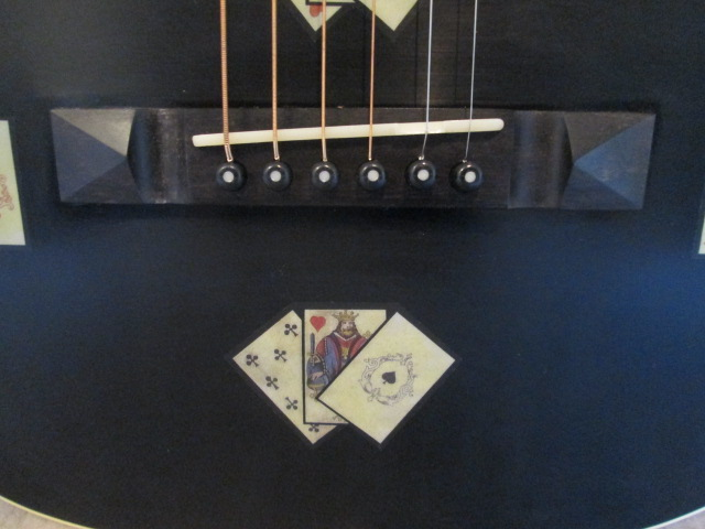 Hauver Guitar Gambler concert guitar bridge