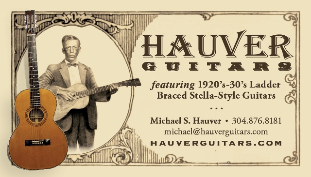 Hauver Guitars 1920 1930 Ladder Braced Stella-Style handmade in Sharpsburg MD